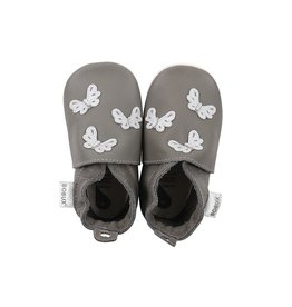 Bobux Soft sole, grey, butterflies