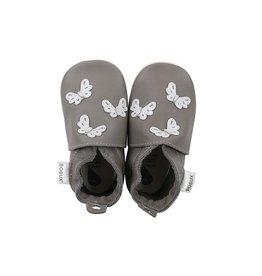 Bobux Soft sole, grey, butterflies