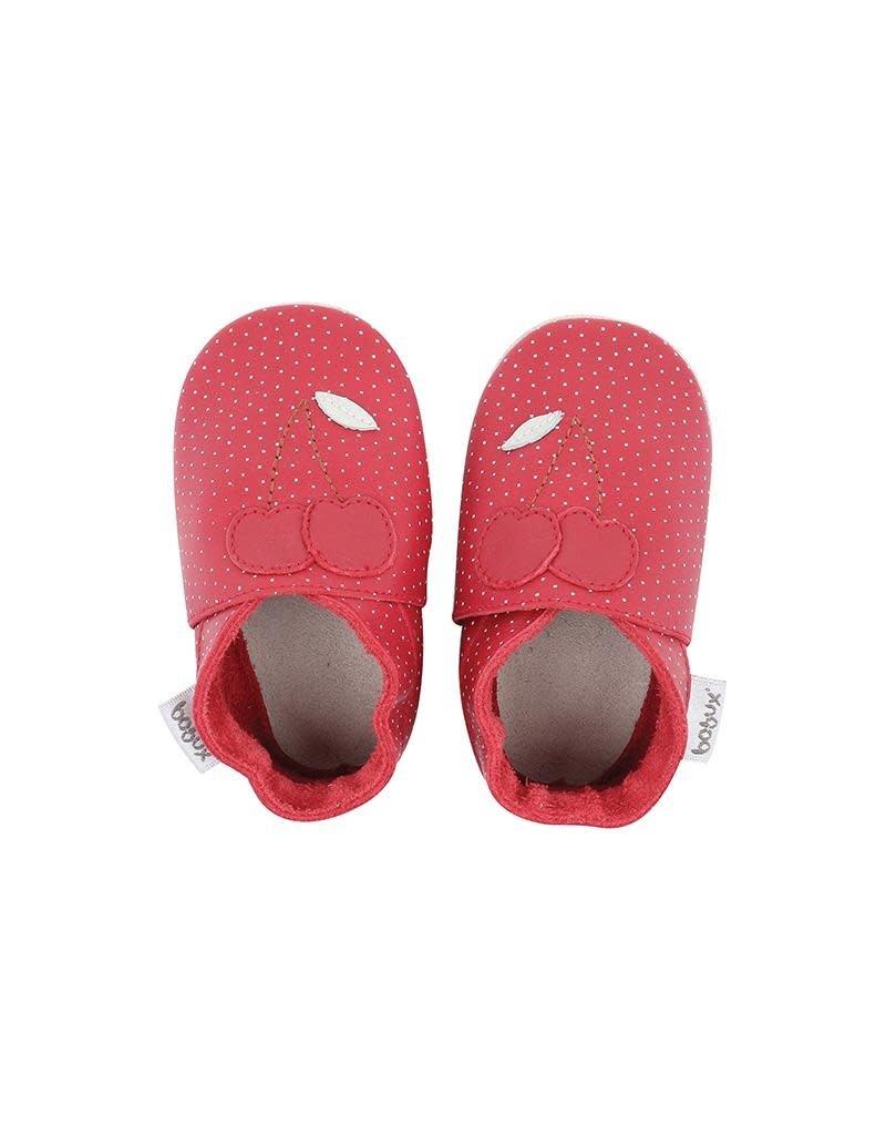Bobux Bobux - soft sole, red cherry, dots