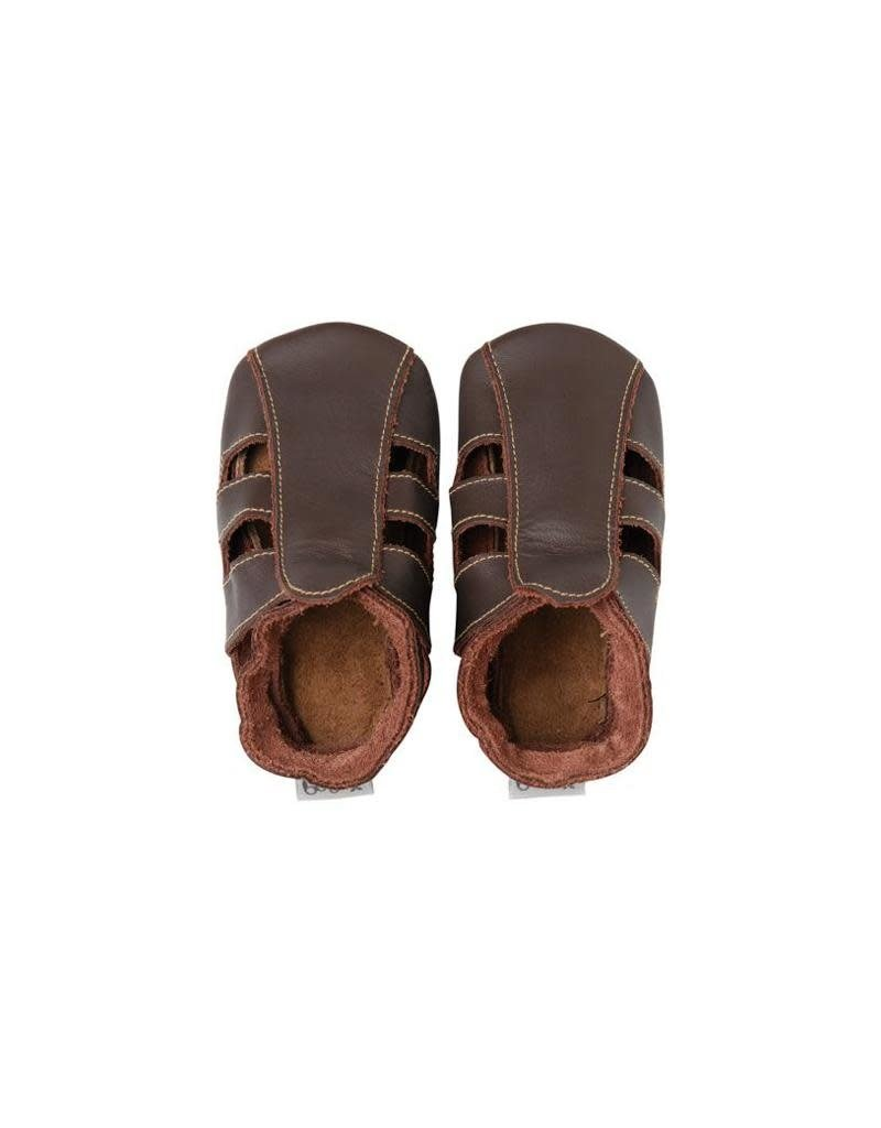 Bobux Bobux - soft sole sandaal, chocolat