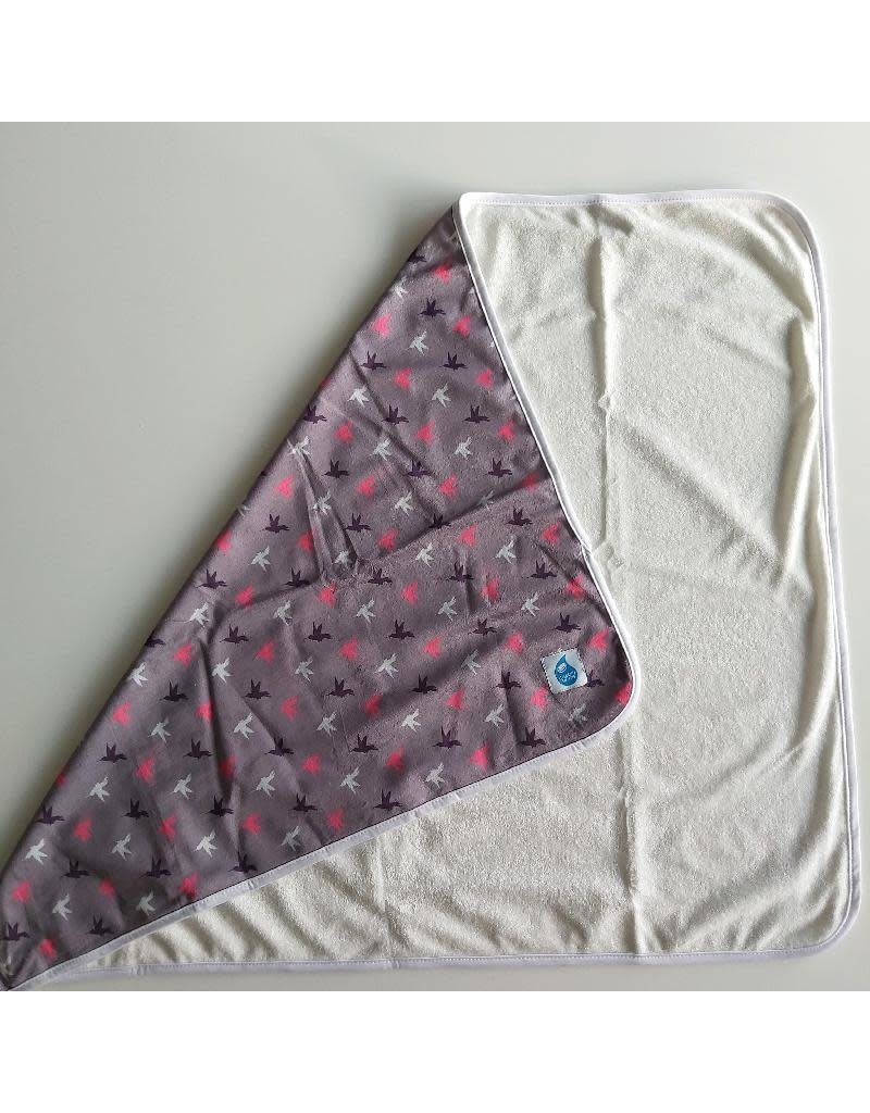 Cheeky Wipes Cheeky Wipes - Changing Mat, minky bamboo, grey birds