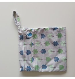 Cheeky Wipes Dubbele Wetbag, grey trees, M