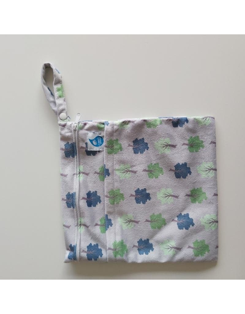 Cheeky Wipes Cheeky Wipes - Double Wetbag, grey trees, M