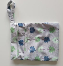 Cheeky Wipes Dubbele Wetbag, grey trees, S