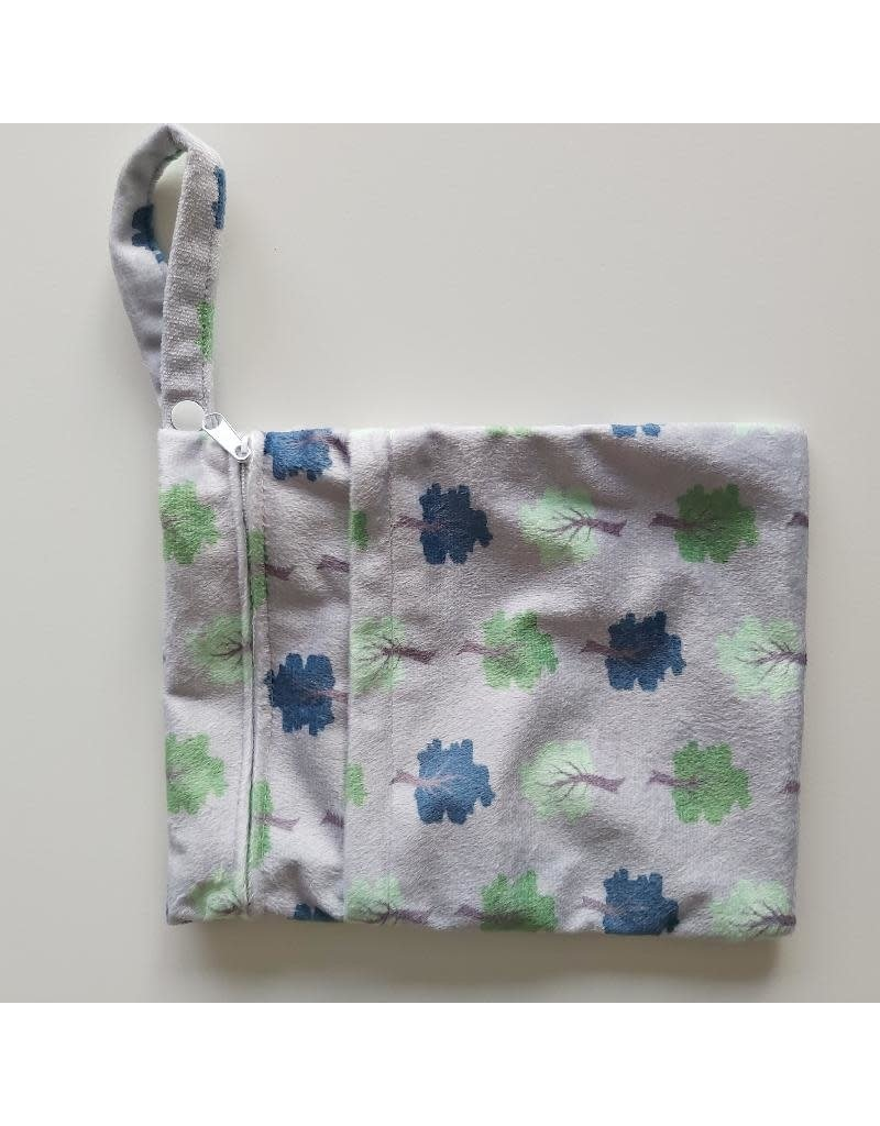 Cheeky Wipes Cheeky Wipes - Double Wetbag, grey trees, S