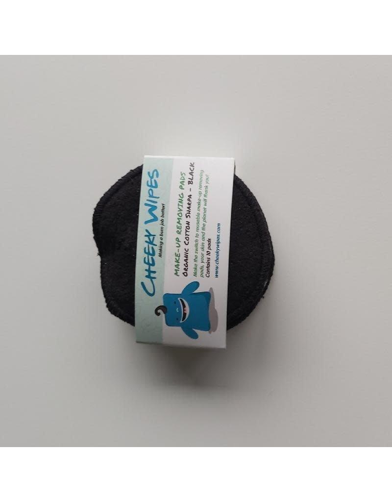 Cheeky Wipes Cheeky Wipes - Make-up removing pads, organic cotton sharpa, zwart, 10 stuks