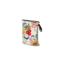 Planet Wise Wetbag met rits, april flowers, L