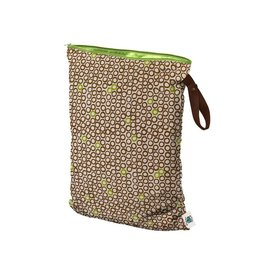 Planet Wise Wetbag met rits, lime cocoa bean, L