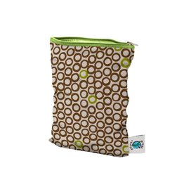 Planet Wise Wetbag met rits, lime cocoa bean, S