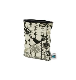 Planet Wise Wetbag met rits, menagerie twill, S