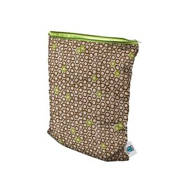 Planet Wise Wetbag, rits, lime cocoa bean, M