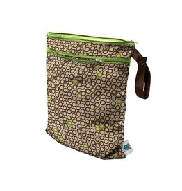 Planet Wise Wet/dry bag, Lime Cocoa Bean