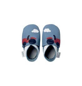 Bobux Soft sole, blue, tractor