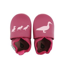 Bobux Soft sole, cerise, duck