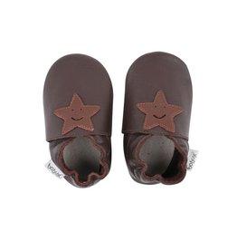 Bobux Soft sole, chocolat, smiling star