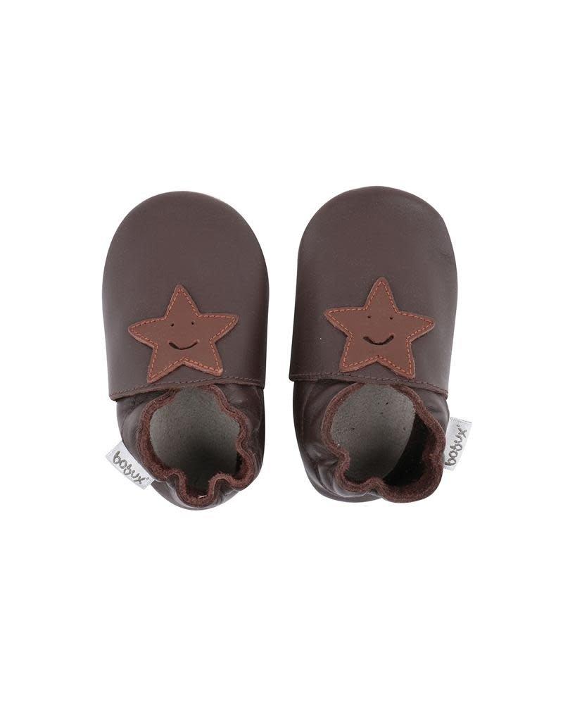 Bobux Bobux - soft sole, chocolat, smiling star