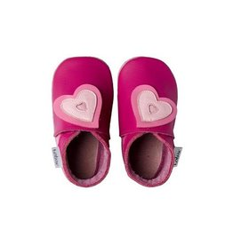 Bobux Soft sole, fuchsia, double heart