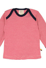 Loud+Proud Loud+Proud - shirt, rood gestreept (0-2j)