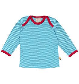 Loud+Proud Shirt, aqua gestreept (0-2j)