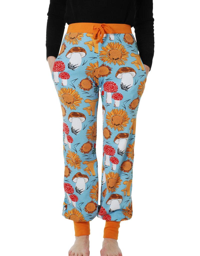 Duns Sweden Duns Sweden Woman - Baggy Pants, Sunflowers and Mushrooms Sky Blue
