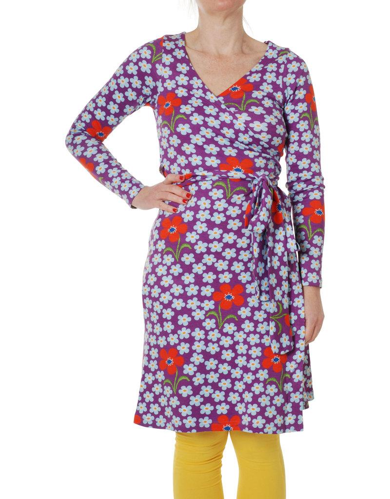 DUNS Sweden Duns Sweden Woman - Wrap Dress Long Sleeve, Flower Amethyst