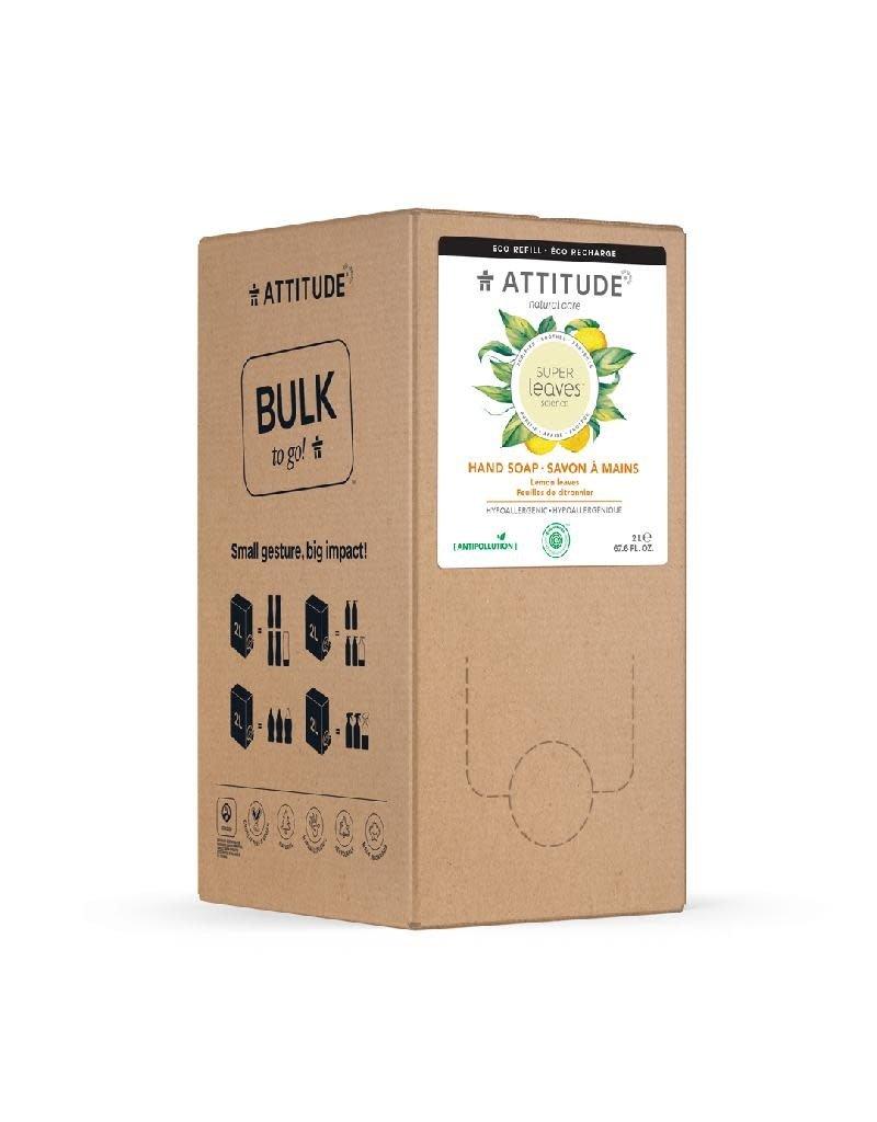 Attitude Attitude - Super Leaves handzeep, Lemon Leaves, Bulk2Go, 2L