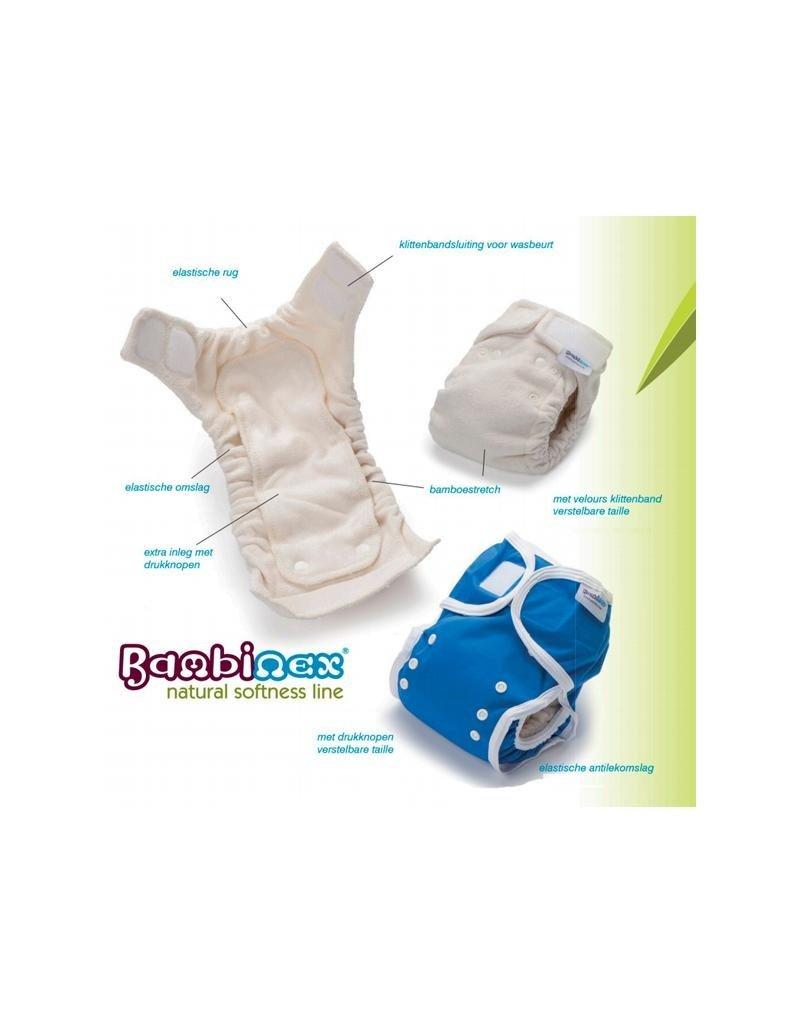 Bambinex Bambinex - voorgevormde luier, natural softness line, bamboestretch/badstof