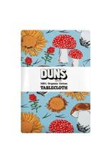 DUNS Sweden Duns Sweden - Tablecloth 220x140cm, Sunflowers and Mushrooms Sky Blue