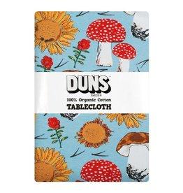 DUNS Sweden Tafellaken, Sunflowers and Mushrooms Sky Blue