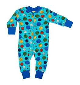 DUNS Sweden Zipsuit, Small Planets Blue Atoll (3-16j)