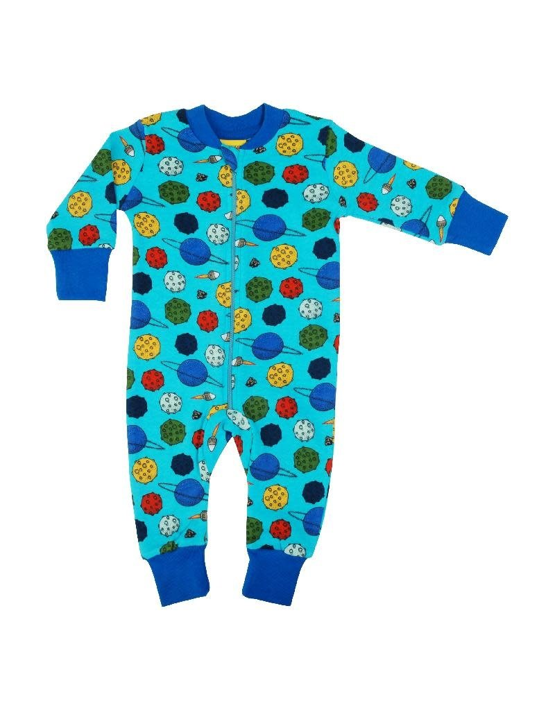 Duns Sweden Duns Sweden - Zip Suit, Small Planets Blue Atoll (3-16j)