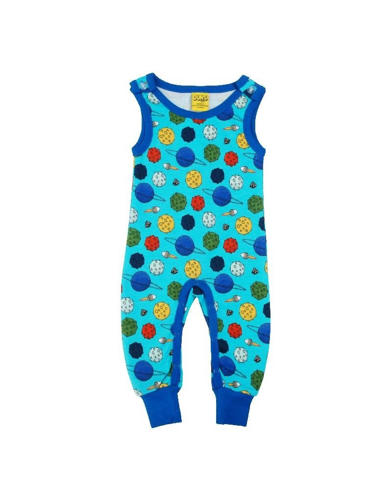 DUNS Sweden Duns Sweden - Dungaree, Small Planets Blue Atoll (0-2j)