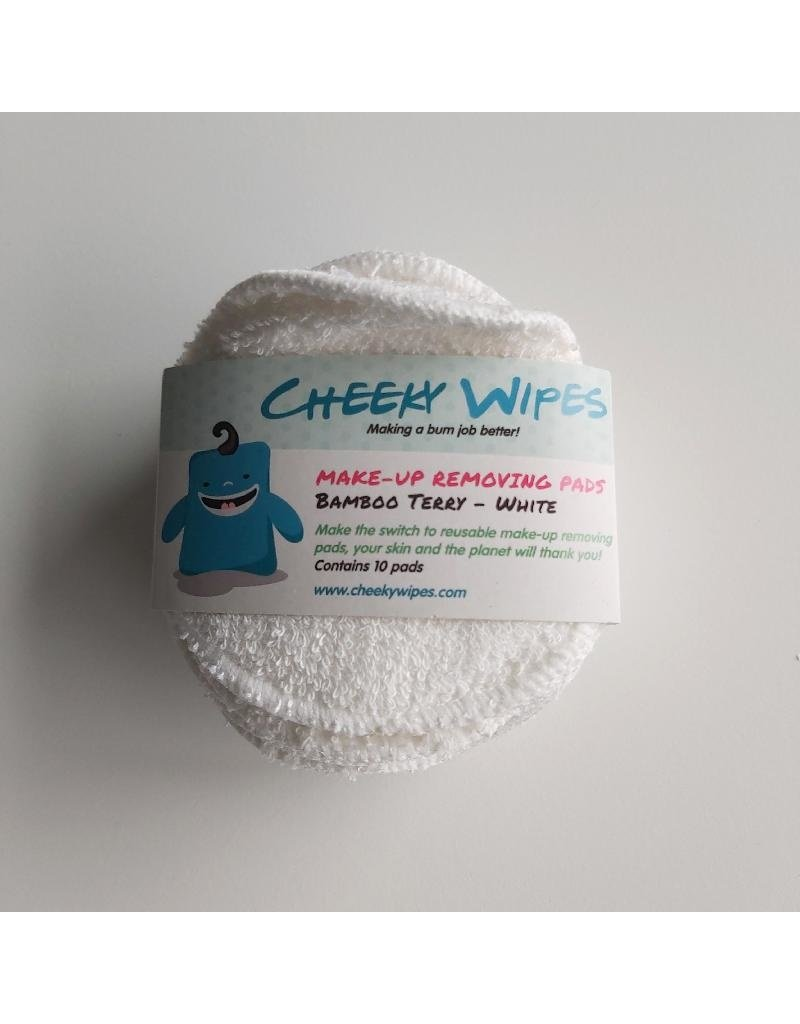 Cheeky Wipes Cheeky Wipes - Make-up removing pads, bamboo terry, wit, 10 stuks