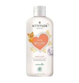 Attitude Baby Leaves Bubble Wash, Pear Nectar