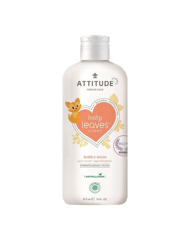 Attitude Attitude - Baby Leaves Bubble Wash, Pear Nectar