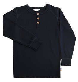Joha Shirt met knoopjes, wol, navy (3-16j)