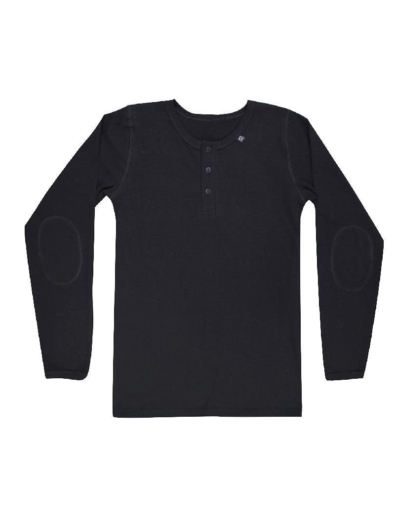 Joha Joha - shirt met knoopjes, zwart (3-16j)