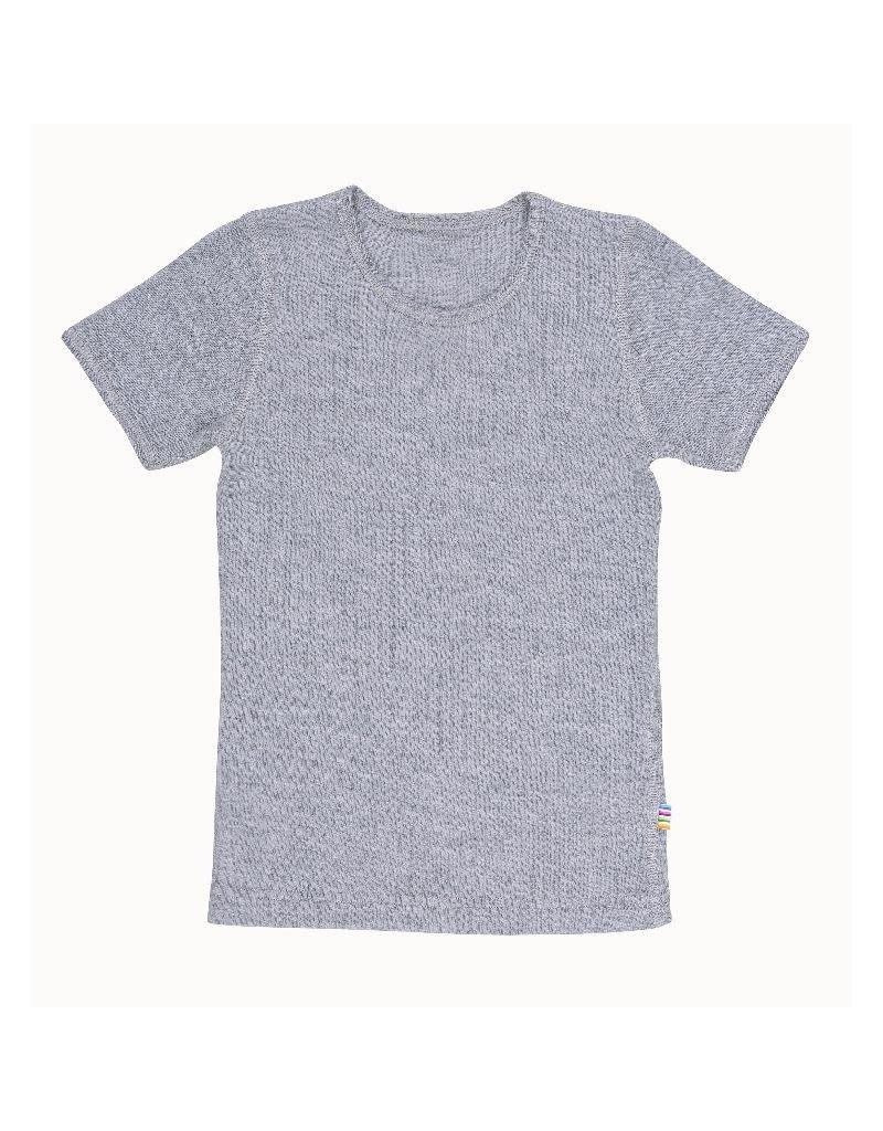 Joha Joha - T-shirt, wol, lichtgrijs mélange (3-16j)