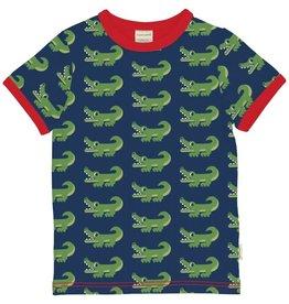 Maxomorra T-shirt, crocodile (0-2j)
