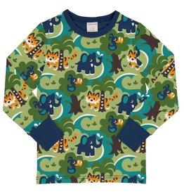 Maxomorra Shirt, jungle (3-16j)