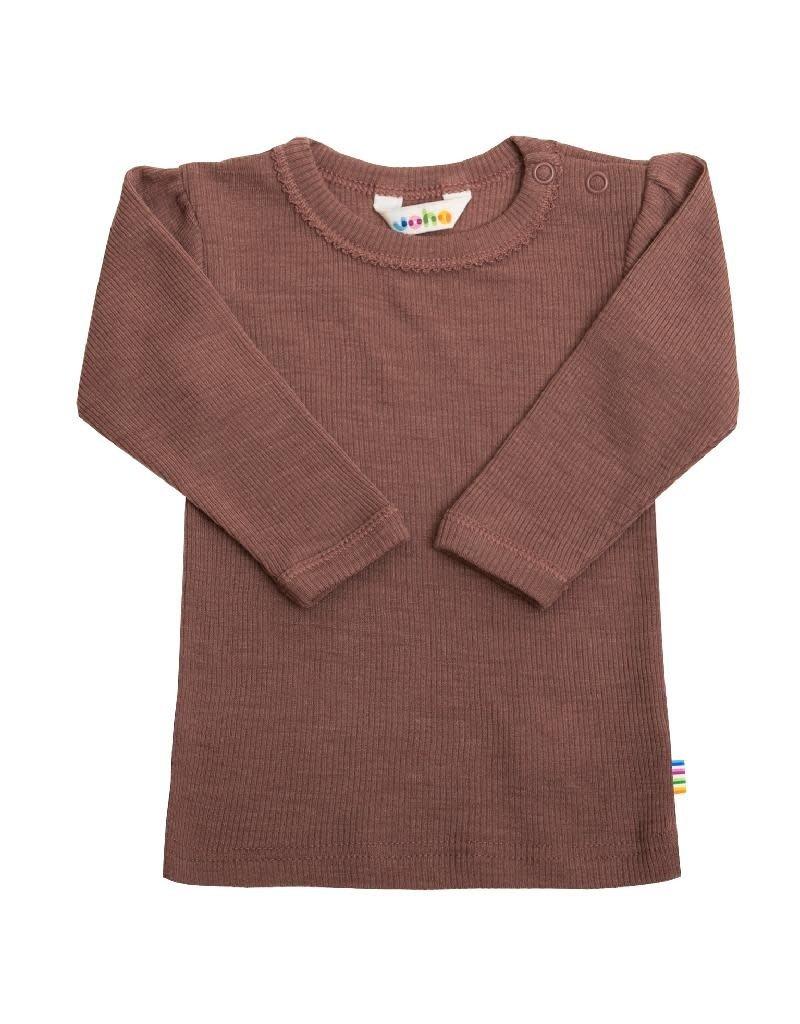 Joha Joha - shirt, wol/zijde, old pink (3-16j)