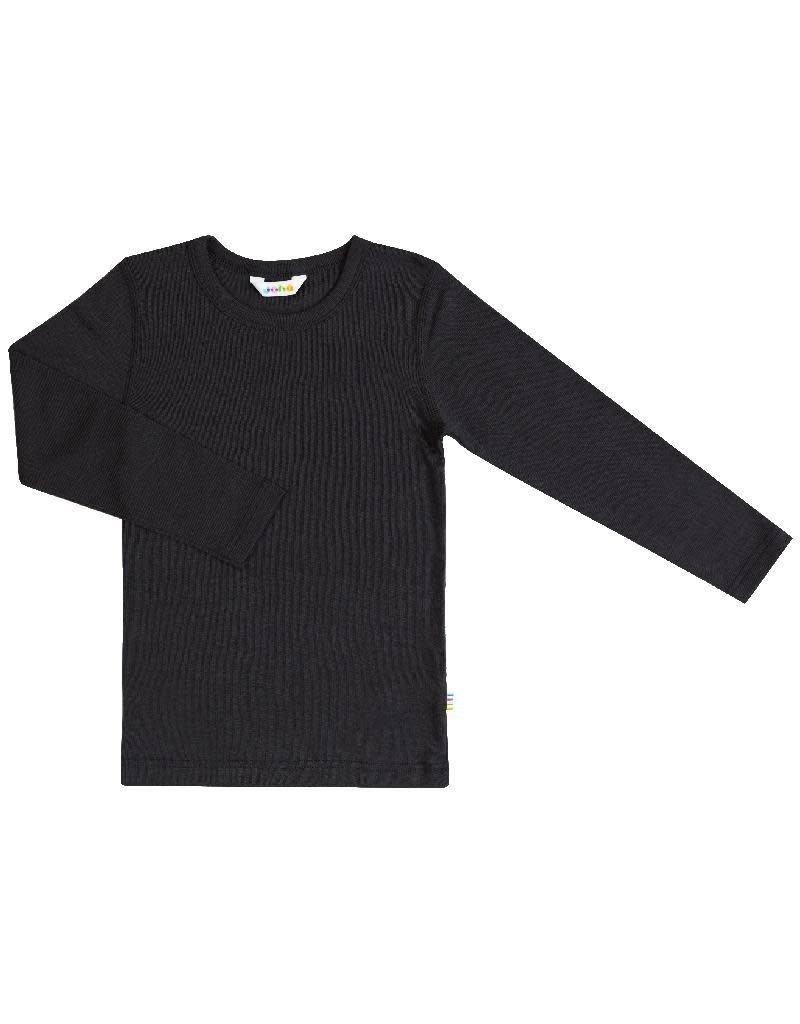 Joha Joha - shirt, wol/zijde, zwart (3-16j)
