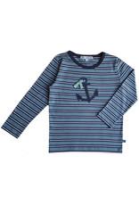 Enfant Terrible Enfant Terrible - Langarmshirt Streifen und Anker, petrol/navy (3-16j)