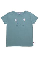 Enfant Terrible Enfant Terrible - Shirt mit Katzengesicht, jade (3-16j)