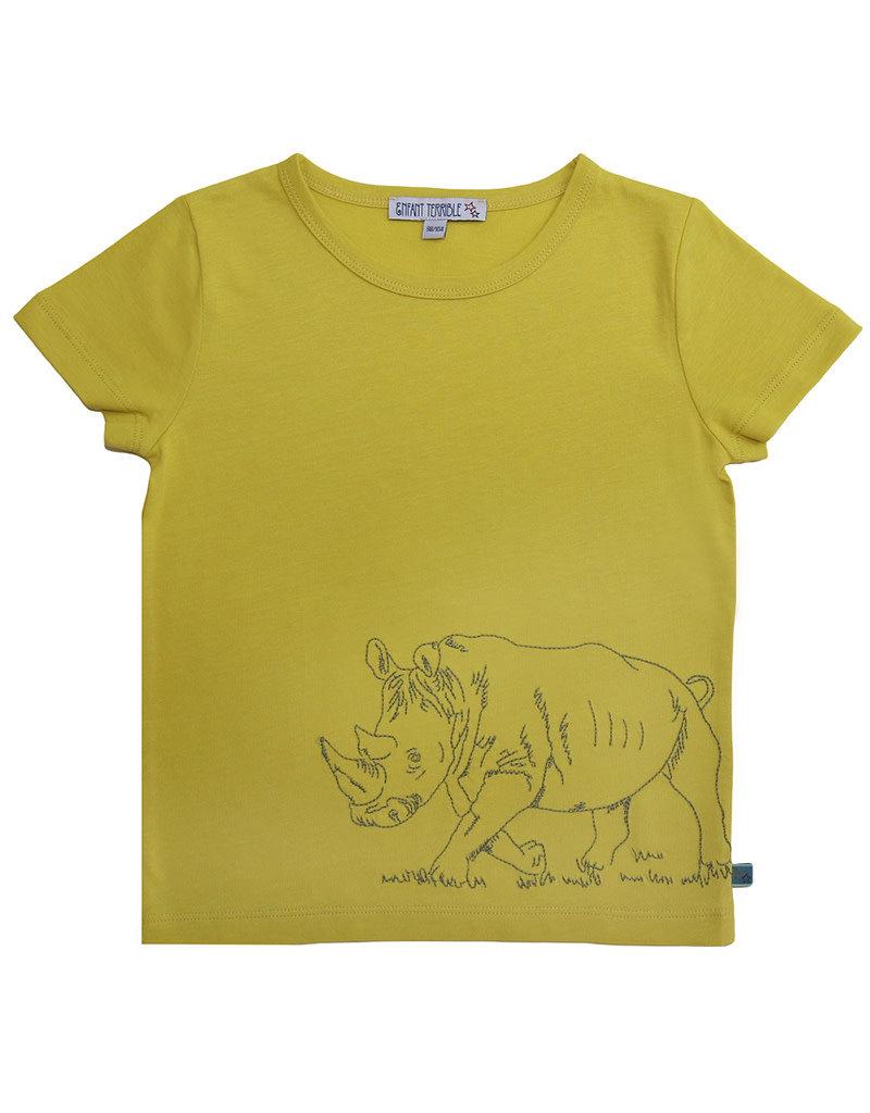 Enfant Terrible Enfant Terrible - Shirt mit Rhinozeros, limone (3-16j)