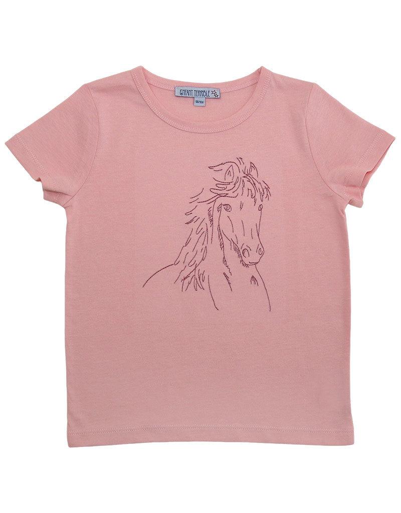 Enfant Terrible Enfant Terrible - Shirt mit Pferd, hellrosé (3-16j)