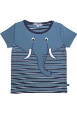 Enfant Terrible Enfant Terrible - Shirt mit Streifen und Elefant, petrol/navy (3-16j)