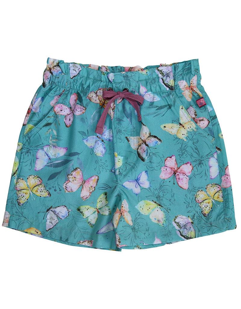 Enfant Terrible Enfant Terrible - Webshorts Schmetterlinge, jade/limone (3-16j)
