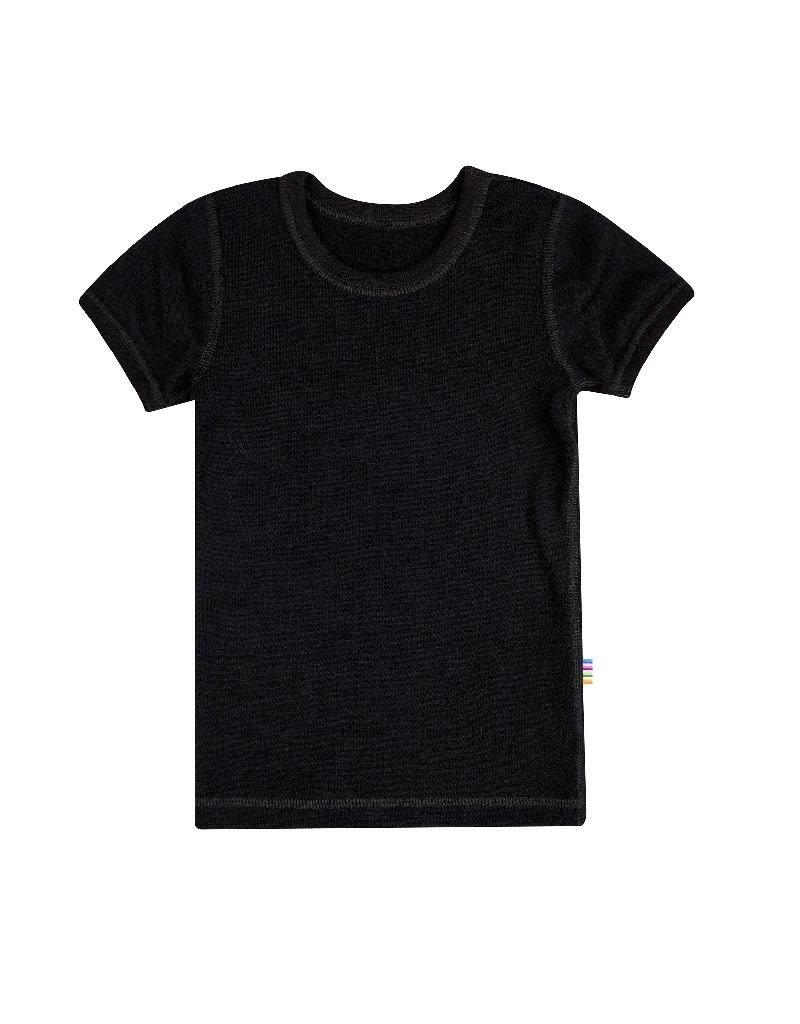 Joha Joha - T-shirt, wol/katoen, zwart (3-16j)