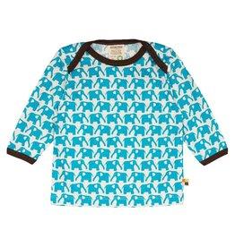 Loud+Proud Shirt, aqua olifanten (0-2j)